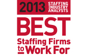 staffing industry analysts Best Staffing Firms to Work For 2013