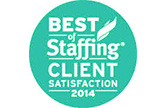 2014 Best of Staffing - Client Satisfaction Logo