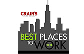 2014 Crain's Best Places to Work Award Logo - lasalle network