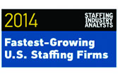 2014 SIA Fastest-Growing U.S. Staffing Firms Logo - lasalle network