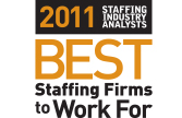 2011 SIA Best Staffing Firms to Work For Logo