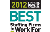 2012 SIA Best Staffing Firms to Work For Logo