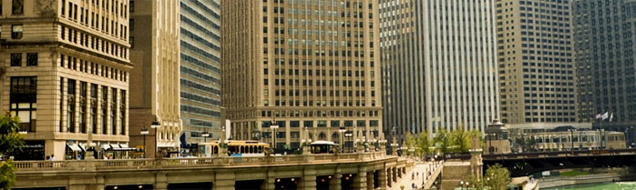 View of Wacker Drive - LaSalle Network Fastest Growing Staffing Firm