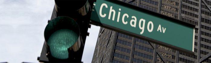 Chicago Avenue Street Sign - LaSalle Network